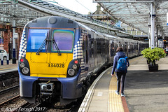 334028 stands at Helensburgh Central