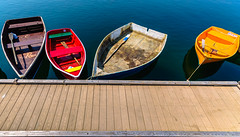 Four Boats on a Dock