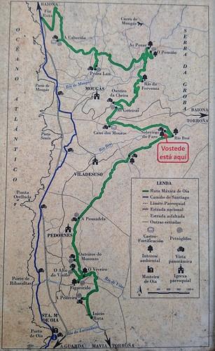 Mapa da Ruta Máxica de Oia