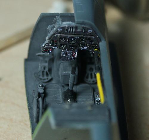 Cockpit Bf109G-2 Charlymic après peinture