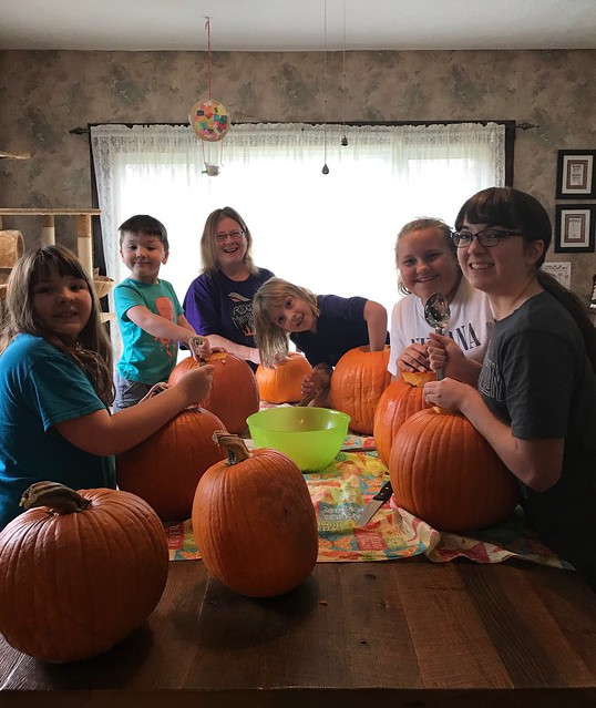Carving pumpkins ?