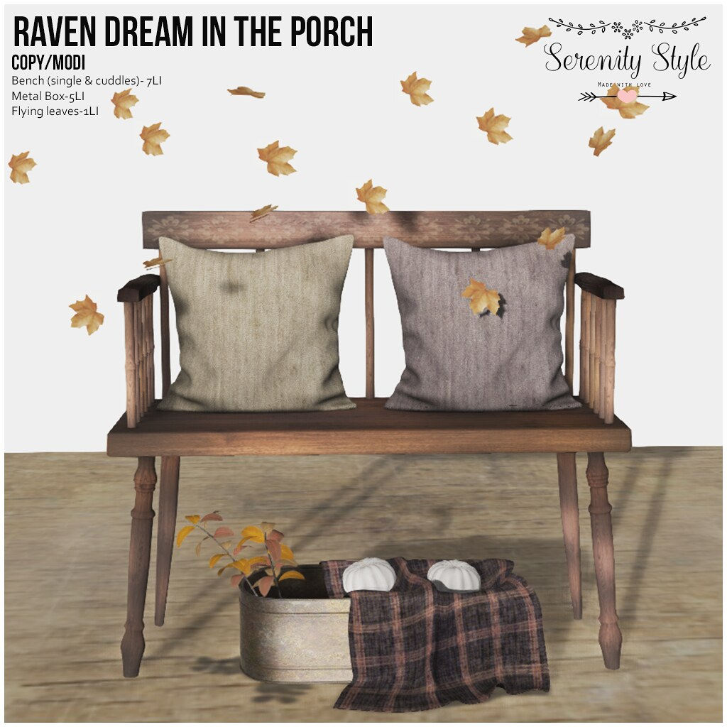 Serenity Style- Raven Dream in the Porch