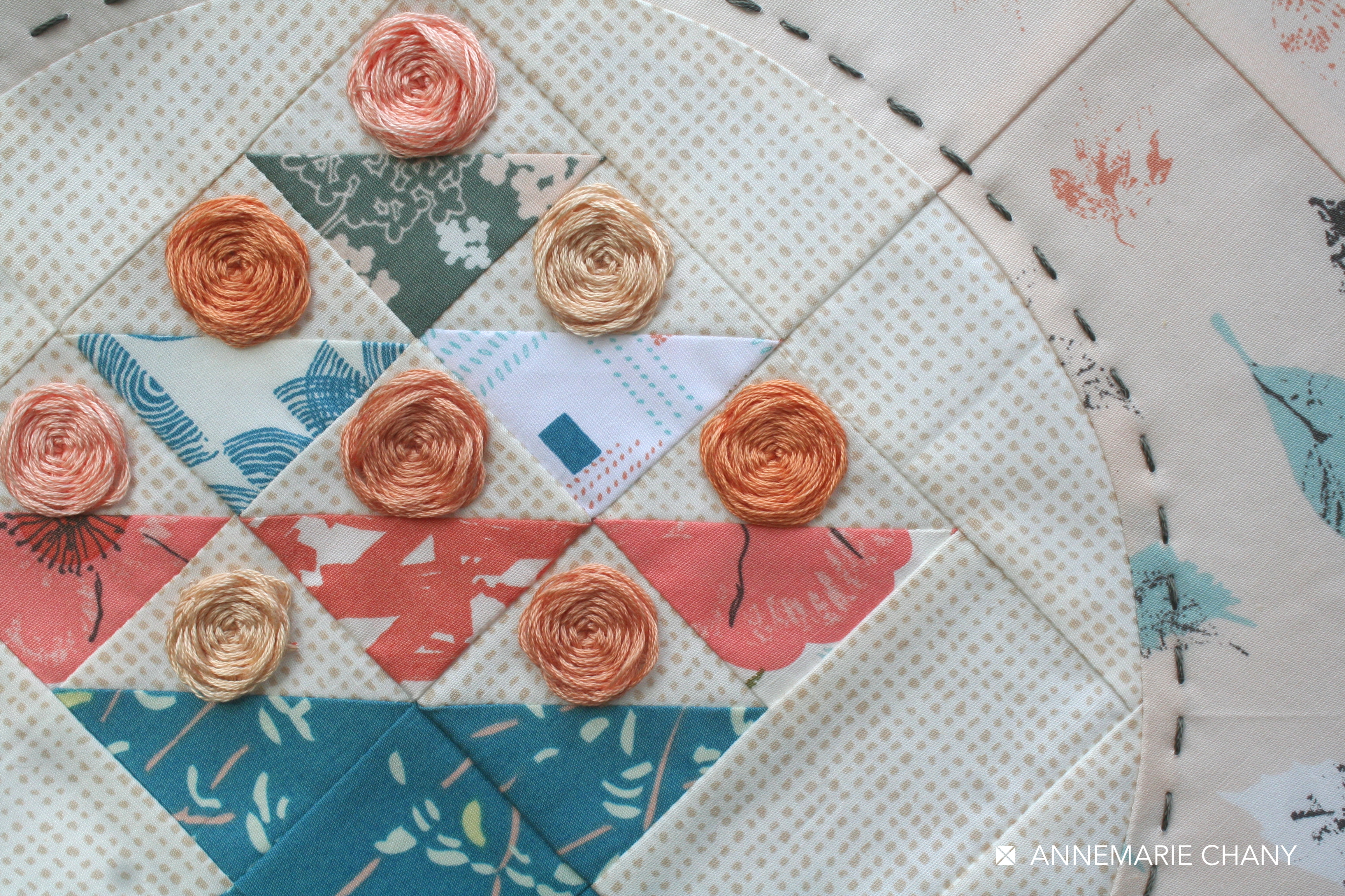 Hoop Quilt Embroidery Bountiful Fabric