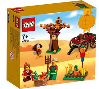 缺農作物買這組就對了~LEGO 40261【感恩節節慶包】Seasonal Thanksgiving Set 盒組清晰圖公開!
