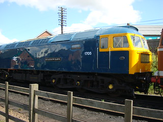 Class 47 diesel locomotive 'Sparrowhawk' on the Great Central Railway.