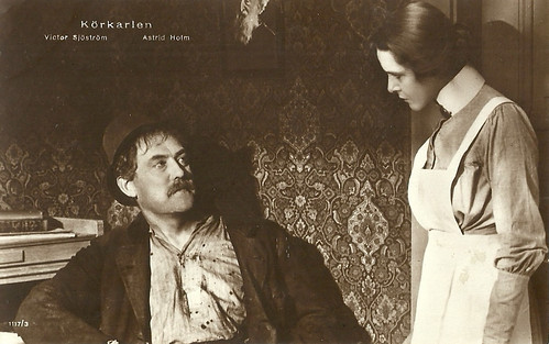 Victor Sjöström and Astrid Holm in Körkarlen