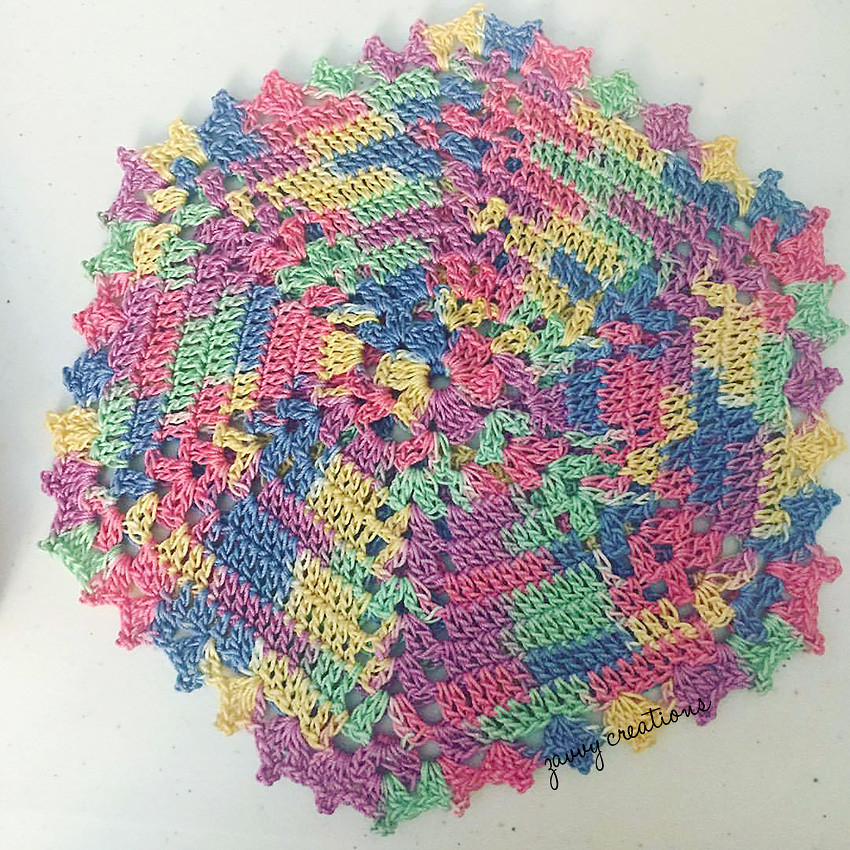 Crochet Hexagonal Trivet