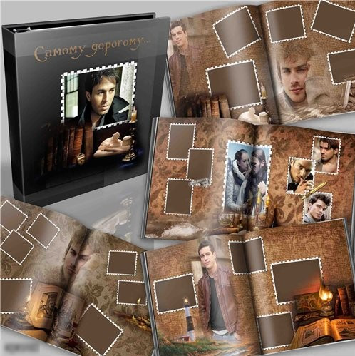 Unisex photobook for photos in the Photoshop (PSD format)