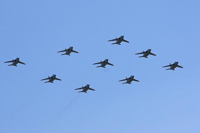 第1航空団 第31教育飛行隊 T-4による大編隊飛行 IMG_4140_2