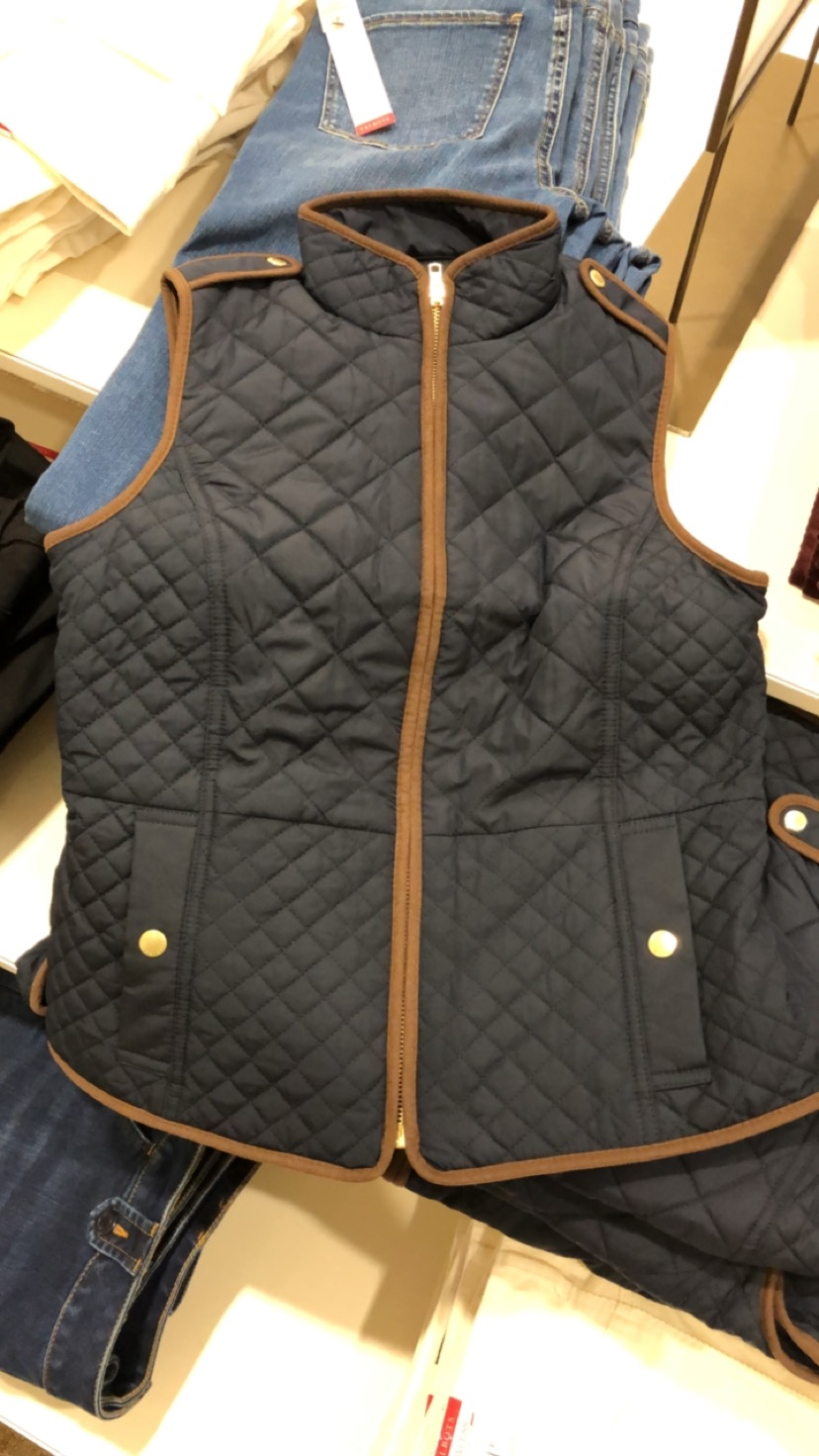 Talbots Quilted Barn Vest