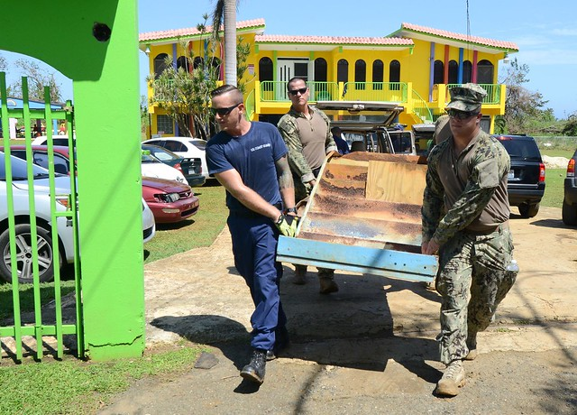 Coast Guardsmen deliver FEMA aid to Hurricane Maria-impacted towns in Puerto Rico
