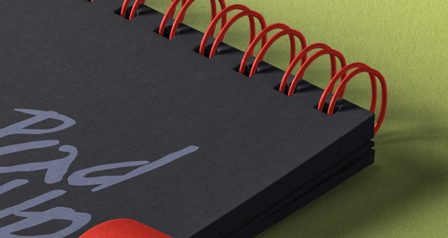 Notepads with Pencil Mockup 4
