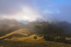 Mist, Sun in Valley@Mt. Chilai, Taiwan.奇萊南峰日出霧氣~
