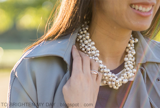 Ann Taylor pearlized cluster necklace, Nadri infinity rings