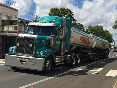 WESTERN STAR B Double Tankers at Peak Hill NSW