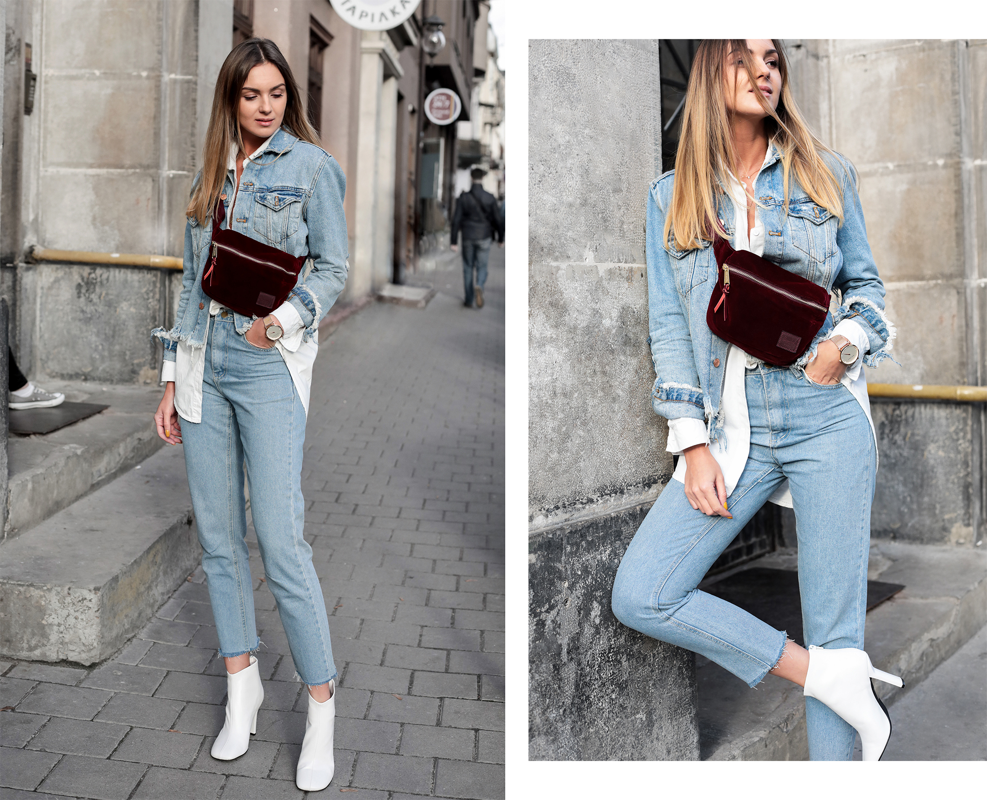 total-denim-look-outfit-white-boots-trend