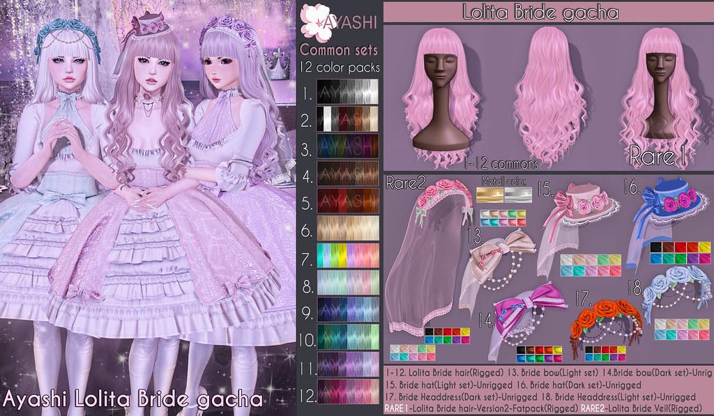 [^.^Ayashi^.^] Lolita bride gacha special for The Gacha Garden - TeleportHub.com Live!