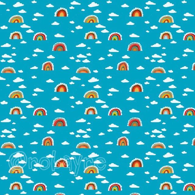 rainbow cloud pattern