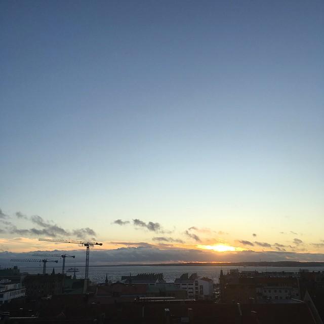 wednesday, sunset, helsingborg