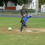 kick ball on the seton academy field