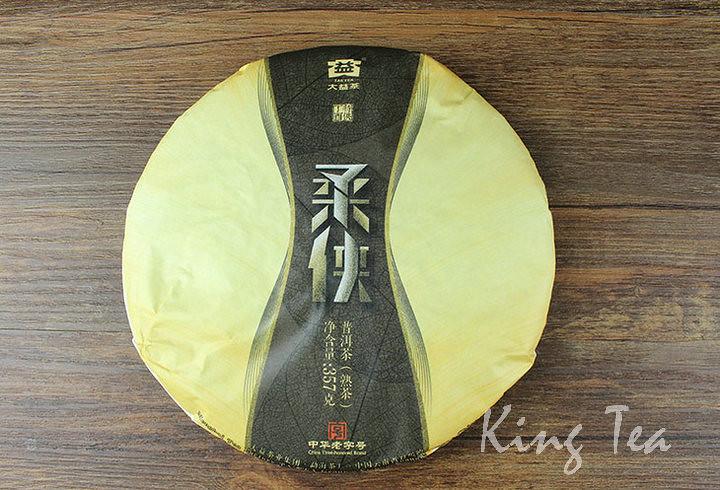 Free Shipping 2017 TAE TEA DaYi RouXia Cake 357g China YunNan MengHai Chinese Puer Puerh Ripe Tea Cooked Shou Shu Cha