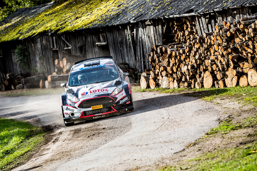 01 Kajetanowicz Kajetan and Baran Jaroslaw, Lotos Rally Team, Ford Fiesta R5 action during the 2017 European Rally Championship ERC Liepaja rally,  from october 6 to 8, at Liepaja, Lettonie - Photo Thomas Fenetre / DPPI