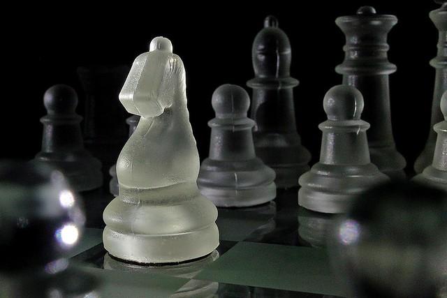 365 - Image 282 - Sidelit chess piece...