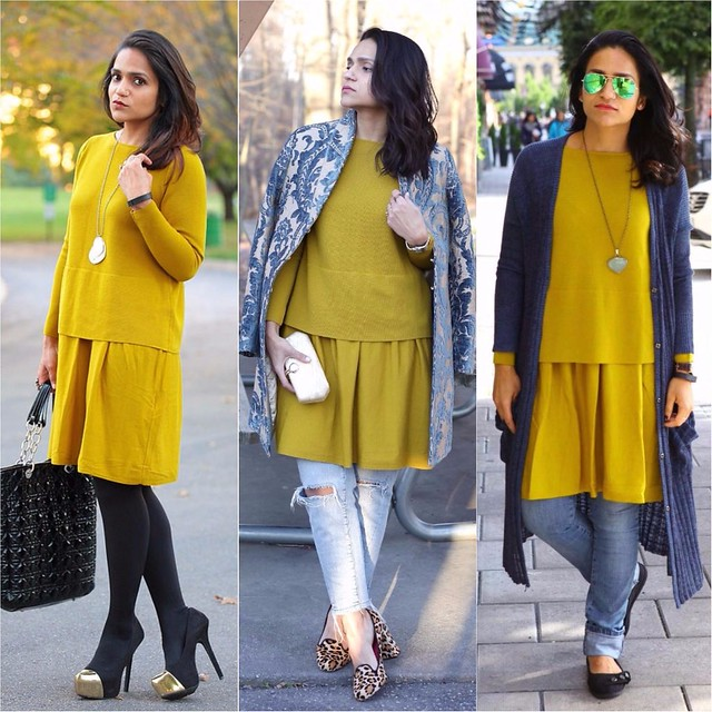 05_ Three Ways To Style a Mustard Dress Tanvii.com