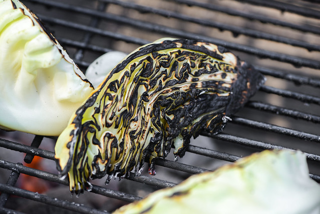 Grilled Cabbage with Mustard Vinaigrette