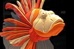 Orange & Gold Plastic Lionfish