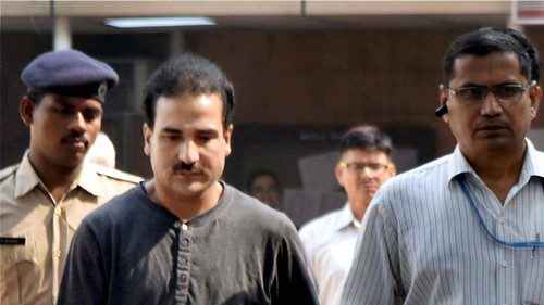 Syed Salahuddin's son Syed Shahid Yousuf, who was arrested by the NIA, being produced