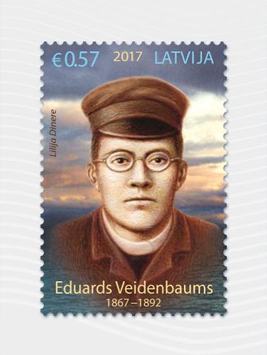Pastmarka Eduardam Veidenbaumam 150