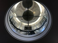 Looking up into the Flaxman Gallery