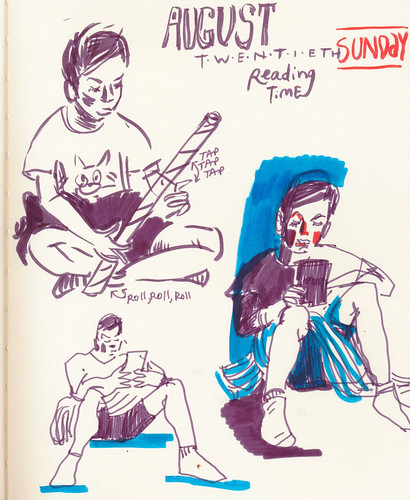 Sketchbook #107: Reading Time