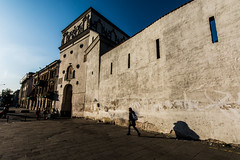 Childhood's shadow, Gates of Dawn from behind, Vilnius, Lithuania