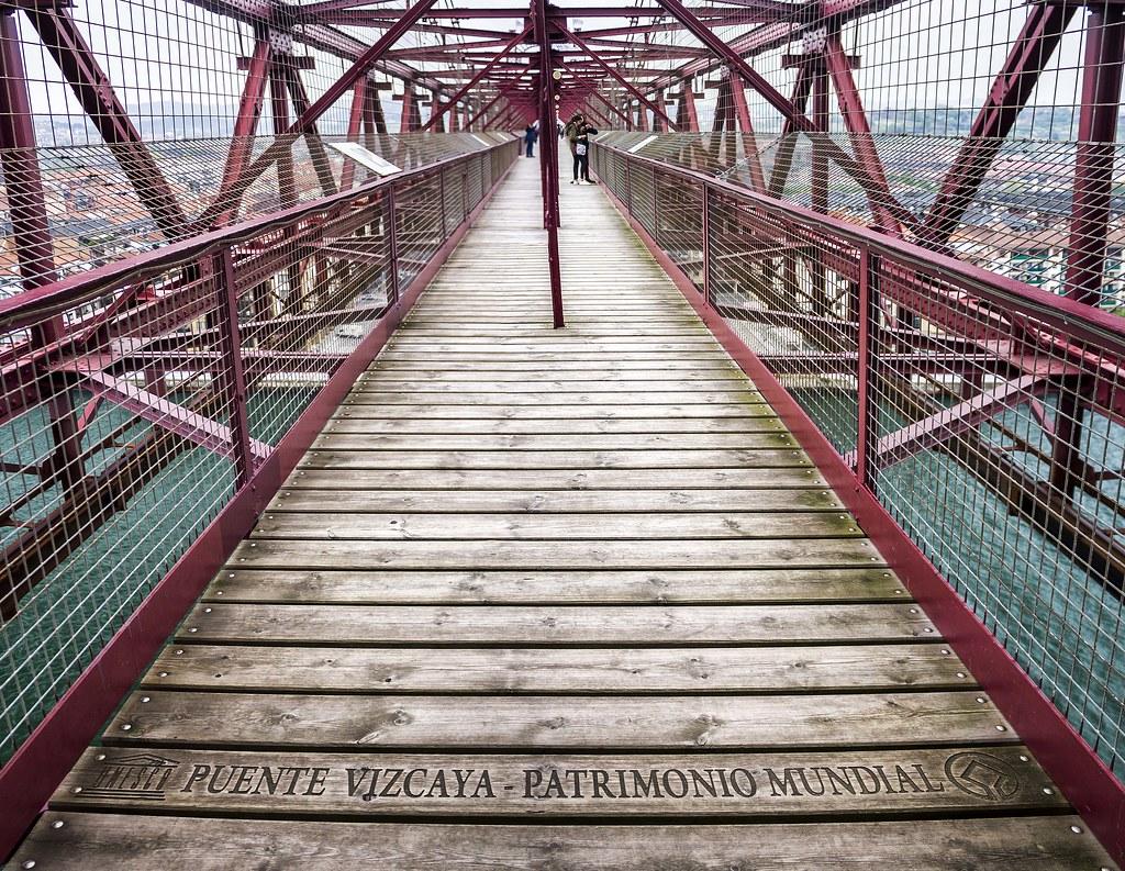 Sobre el Puente de Vizcaya
