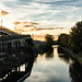 Sunset over the Grand Union Canal