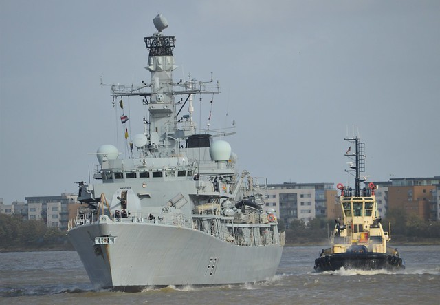 HMS Sutherland F81 (5) @ Gallions Reach 21-10-17