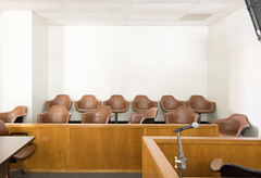 Jury Box, Henderson County Courthouse, Athens, Texas 1710131218a
