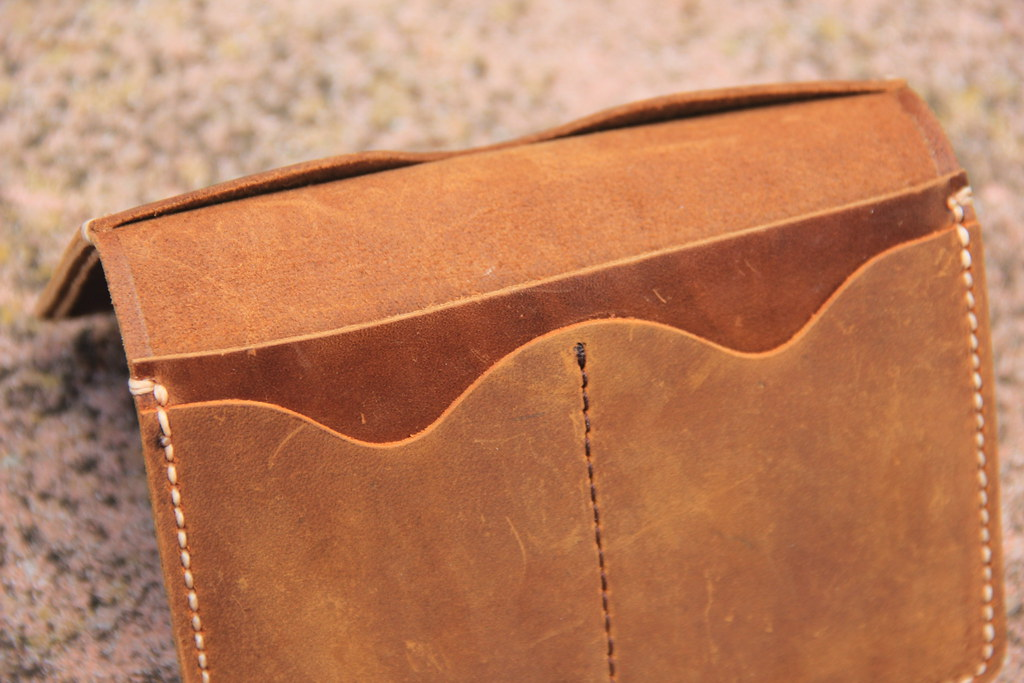 The inside of the JooJoobs leather travel wallet