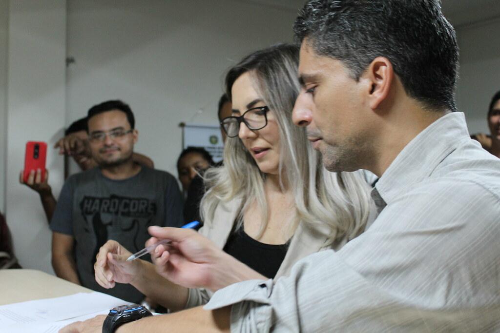 Candidato da oposição, Hugo Diniz vence eleição e lidera lista tríplice à reitoria da Ufopa, Hugo e Aldenize, Ufopa