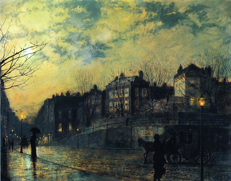 Hampstead by John Atkinson Grimshaw, 1881