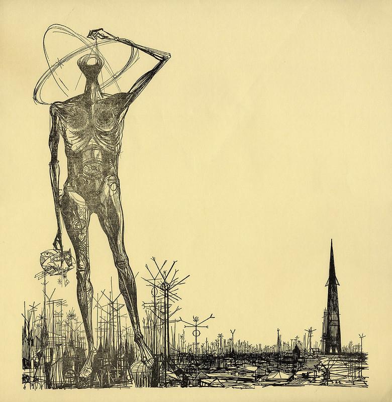 """Joseph Mugnaini - """"The World of  Ray Bradbury"""" Stage Show Poster Art"""