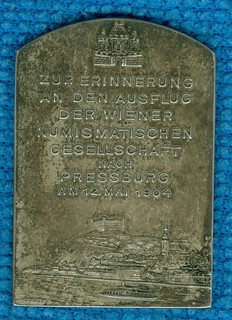 1904 Vienna Numismatic Society Tour Medal obverse