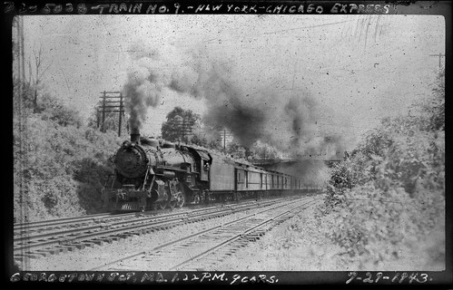 1943 B&O 5038, train 9 NY-CHI express