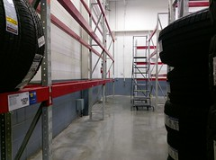 Another view of the emptied out tire space, which would become...