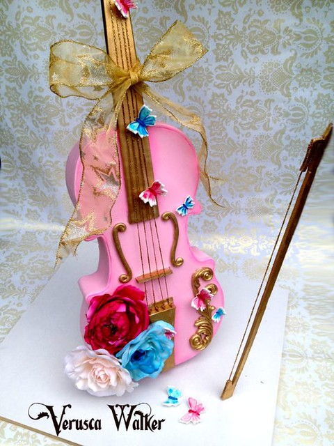 3D Violin Cake from CakesDecor.com