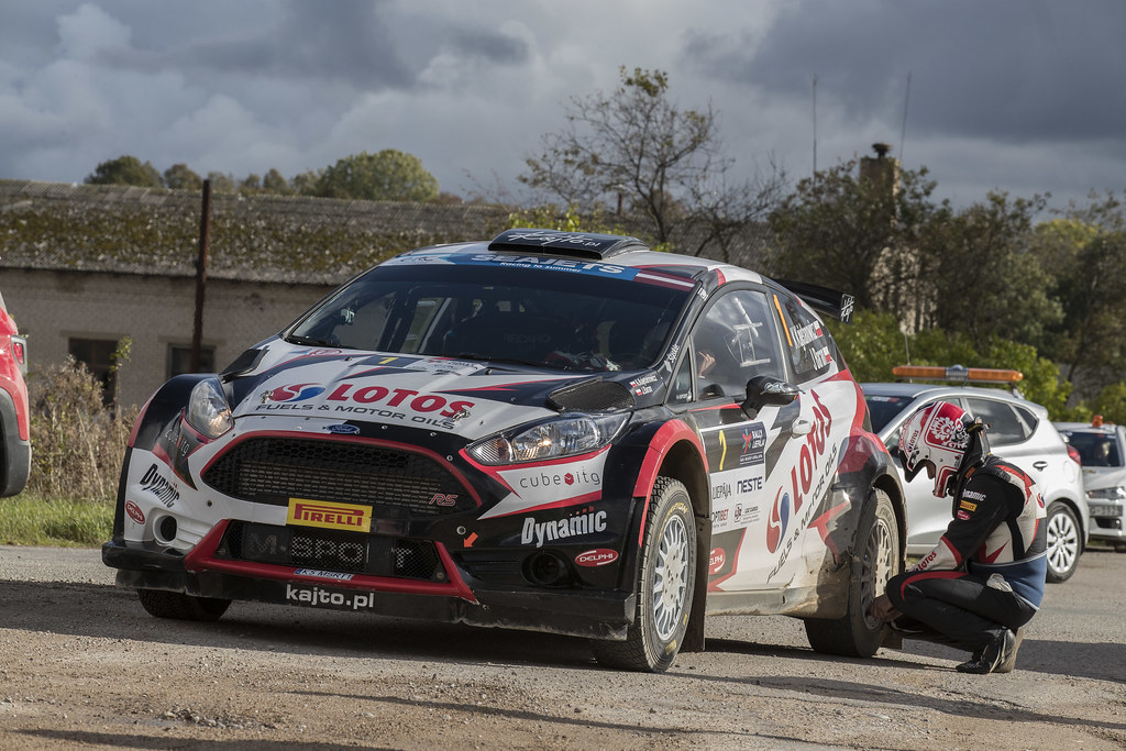 01 Kajetanowicz Kajetan and Baran Jarosław, Lotos Rally Team, Ford Fiesta R5 ambiance during the 2017 European Rally Championship ERC Liepaja rally,  from october 6 to 8, at Liepaja, Lettonie - Photo Gregory Lenormand / DPPI