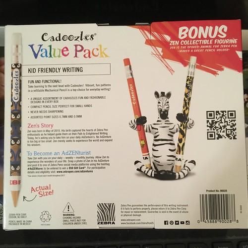 #Zebra Cadoozles Value Pack with Zebra Zen #pencil holding figure