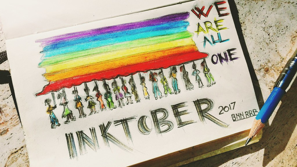 WE ARE ALL ONE INKTOBER 2017
